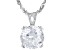 Cubic Zirconia Rhodium Over Silver Pendant With Chain 6.30ct (3.87ct DEW)