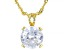 Cubic Zirconia 18k Yellow Gold Over Silver Pendant With Chain 6.30ctw (3.87ct DEW)