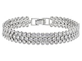 White Cubic Zirconia Rhodium Over Sterling Silver Bracelet 15.18ctw