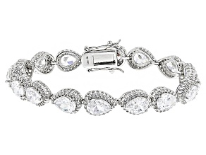White Cubic Zirconia Rhodium Over Sterling Silver Bracelet 33.62ctw