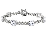 White Cubic Zirconia Rhodium Over Sterling Silver Bracelet 32.63ctw