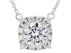 White Cubic Zirconia Rhodium Over Sterling Silver Necklace 3.73ctw