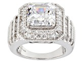 White Cubic Zirconia Rhodium Over Sterling Silver Ring 10.53ctw