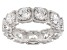 White Cubic Zirconia Rhodium Over Sterling Silver Band Ring 8.69ctw