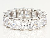 White Cubic Zirconia Rhodium Over Sterling Silver Ring 15.26CTW