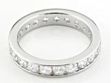 White Cubic Zirconia Rhodium Over Sterling Silver Band Ring 3.32ctw