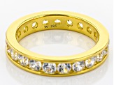 White Cubic Zirconia 18K Yellow Gold Over Sterling Silver Band Ring 3.32ctw