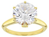 White Cubic Zirconia 18K Yellow Gold Over Sterling Silver Ring 7.99CTW