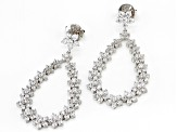 White Cubic Zirconia Rhodium Over Sterling Silver Earrings 12.89CTW