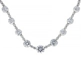 White Cubic Zirconia Rhodium Over Sterling Silver Necklace 74.42ctw