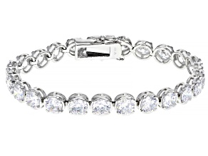 White Cubic Zirconia Rhodium Over Sterling Silver Bracelet 30.18ctw