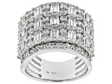 White Cubic Zirconia Rhodium Over Sterling Silver Ring 7.93CTW