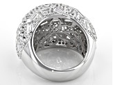 White Cubic Zirconia Rhodium Over Sterling Silver Ring 3.13ctw