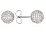 White Cubic Zirconia Rhodium Over Sterling Silver Earrings 5.64ctw