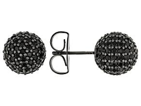 Black Cubic Zirconia Black Rhodium Over Sterling Silver Earrings 2.60ctw