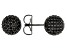 Black Cubic Zirconia Black Rhodium Over Sterling Silver Earrings 5.64ctw