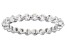 White Cubic Zirconia Rhodium Over Sterling Silver Eternity Band Ring 1.79ctw