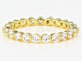 White Cubic Zirconia 18K Yellow Gold Over Sterling Silver Eternity Band Ring 1.79ctw