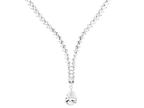 White Cubic Zirconia Rhodium Over Sterling Silver Necklace 90.22ctw