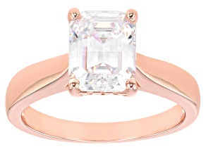 White Cubic Zirconia 18k Rose Gold Over Sterling Silver Ring 4.00ctw