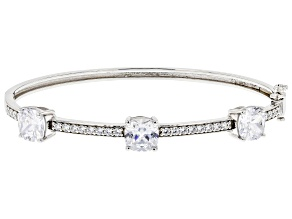 White Cubic Zirconia Rhodium Over Sterling Silver Bracelet 10.17ctw (6.78ctw DEW)