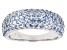 Lab Created Blue Spinel Rhodium Over Silver Ring