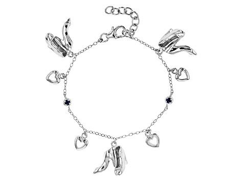 Blue Shire Sterling Silver Children S Charm Bracelet 08ctw