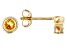 Golden Citrine 10k Yellow Gold Stud Earrings .20ctw