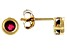 Red Mahaleo® Ruby 10k Yellow Gold Stud Earrings .22ctw