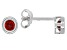 Red Garnet Rhodium Over 10k White Gold Stud Earrings .26ctw