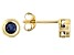 Blue Sapphire 10k Yellow Gold Stud Earrings .26ctw