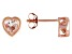 Pink Cor-de-Rosa Morganite™ Child's 10k Rose Gold Heart Stud Earrings .56ctw