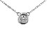 White Zircon Rhodium Over 10k White Gold Child's  Necklace .11ct
