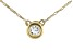 White Zircon 10k Yellow Gold Children's Necklace .11ct
