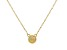 Multi Color Ethiopian Opal 10k Yellow Gold Child's Necklace .07ct