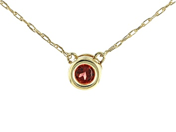 Picture of Red Garnet 10k Yellow Gold Child's Necklace .13ct
