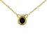 Blue Sapphire 10k Yellow Gold Child's Necklace .10ct