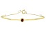 Red Mahaleo® Ruby 10k Yellow Gold Bracelet .11ct