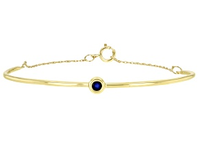 Blue Sapphire 10k Yellow Gold Bracelet .10ct