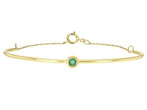 Green Sakota Emerald 10k Yellow Gold Bracelet .10ct