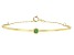Green Sakota Emerald 10k Yellow Gold Bracelet .10ct