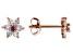 Pink Sapphire 10k Rose Gold Children's Flower Stud Earrings .25ctw
