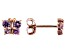 Pink Sapphire 10k Rose Gold Child's Butterfly Stud Earrings .24ctw
