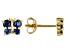 Blue Sapphire 10k Yellow Gold Child's Butterfly Stud Earrings .24ctw