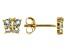 Sky Blue Topaz 10k Yellow Gold Children's Butterfly Stud Earrings .21ctw
