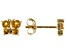Golden Citrine 10k Yellow Gold Child's Butterfly Stud Earrings .24ctw