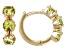 Green Peridot Children's 10k Yellow Gold Hoop Earrings .41ctw