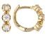 White Zircon Child's 10k Yellow Gold Hoop Earrings .61ctw