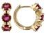 Red Mahaleo® Ruby Children's 10k Yellow Gold Hoop Earrings 1.11ctw