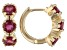 Red Mahaleo® Ruby Children's 10k Yellow Gold Hoop Earrings 0.76ctw